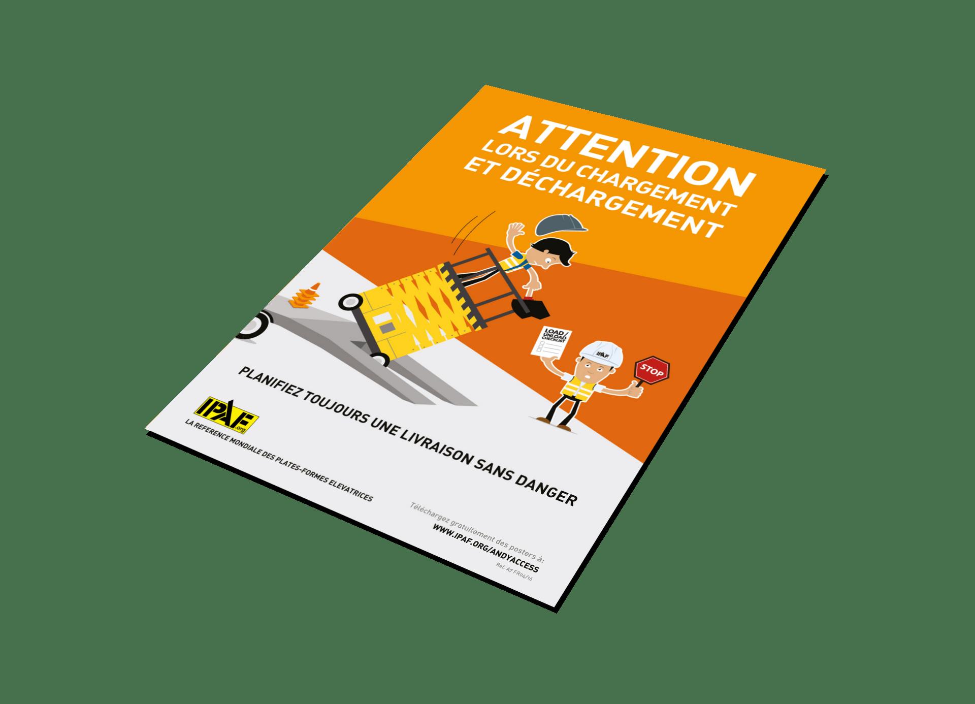 """Kampagnen """"Andy Access"""" Download Französisch """"Attention lors du chargement et déchargement"""""""