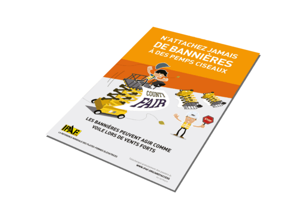 """Kampagnen """"Andy Access"""" Download Französisch """"N´attachez jamais de bannières à des PEMPs ciseaux"""""""