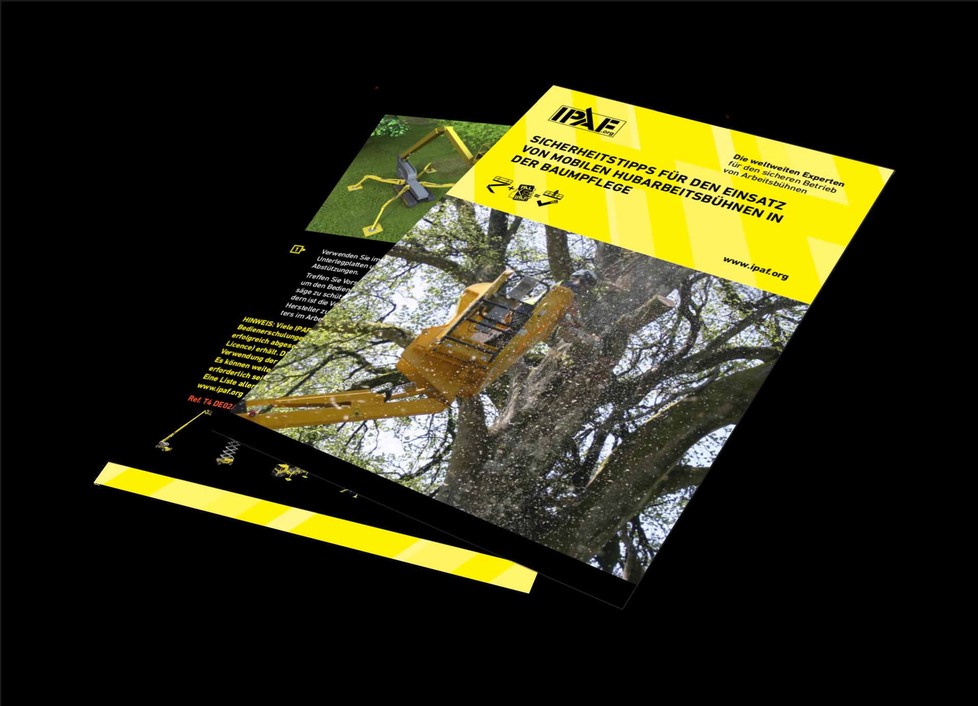 Technische Anleitungen Mobile Hubarbeitsbühnen in der Baumpflege Download Deutsch - Mobile Hubarbeitsbühnen in der Baumpflege