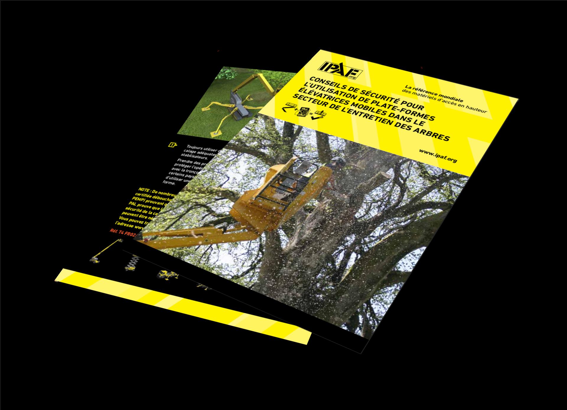 Technische Anleitungen Mobile Hubarbeitsbühnen in der Baumpflege Download Französisch - Mobile Hubarbeitsbühnen in der Baumpflege