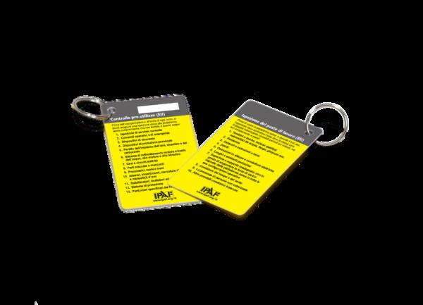 "Werbeartikel Schlüsselanhänger Schlüsselanhänger Kreditkartenformat ""Inspektion vor dem Start"" Italienisch"