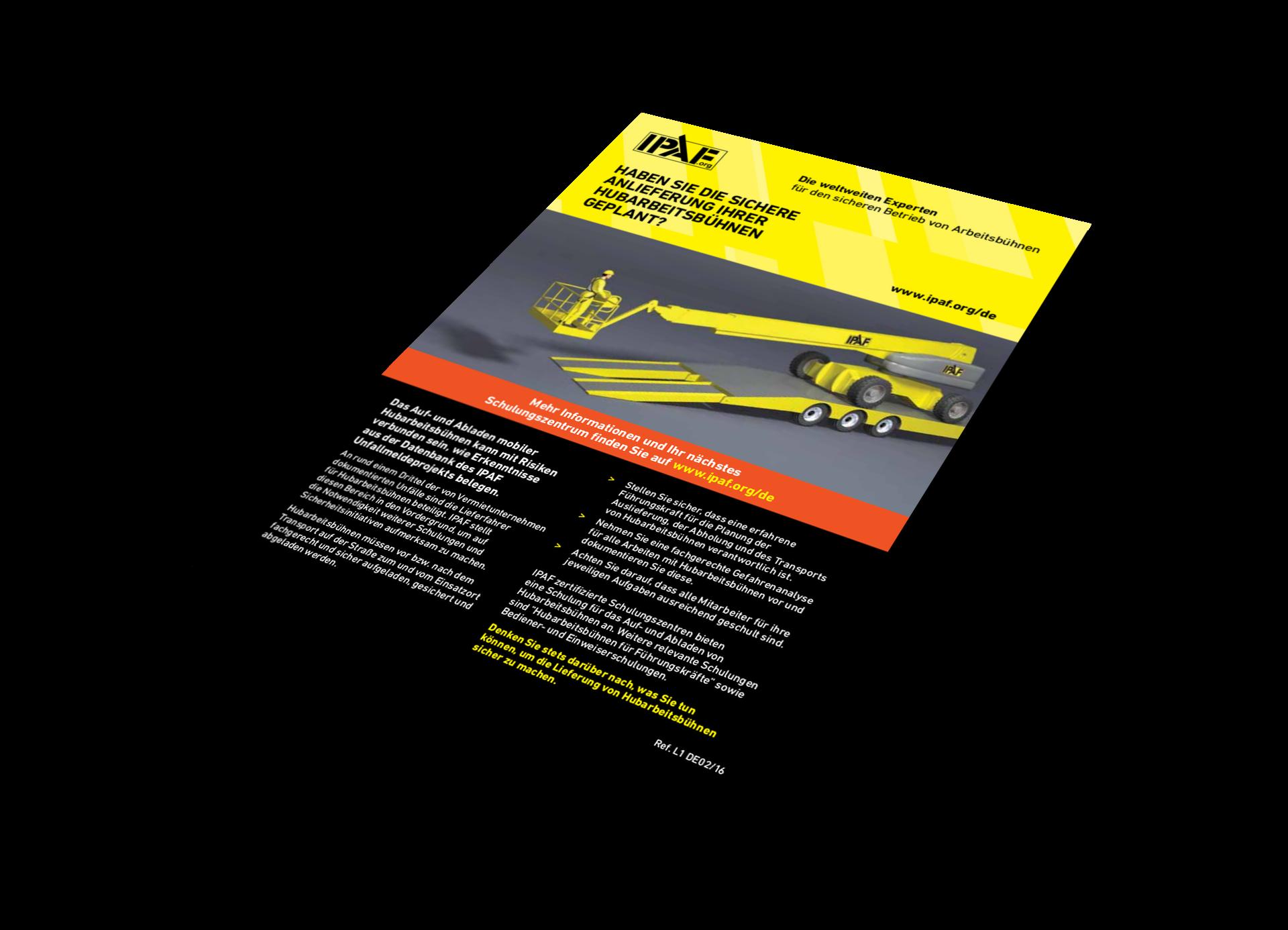 Technische Anleitungen Das Auf- und Abladen mobiler Hubarbeitsbühnen Download Deutsch - Das Auf- und Abladen mobiler Hubarbeitsbühnen