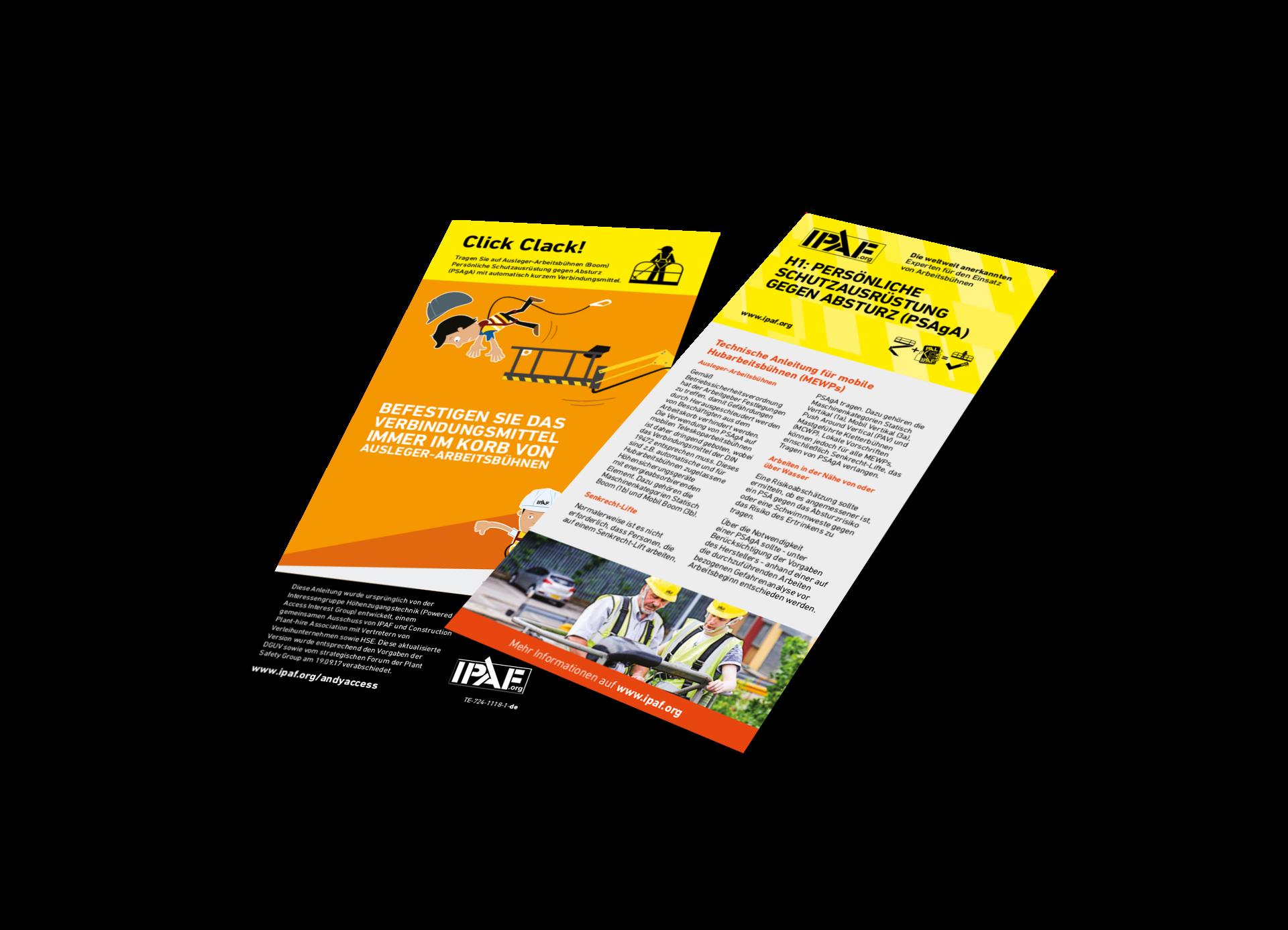 Technische Anleitungen Personenabsturzsicherung für Mobile Hubarbeitsbühnen Download Deutsch - Personenabsturzsicherung für Mobile Hubarbeitsbühnen