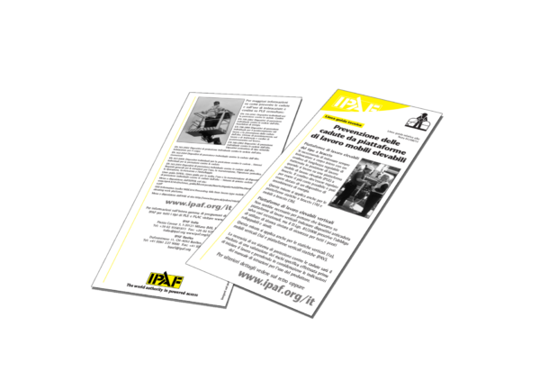 Technische Anleitungen Personenabsturzsicherung für Mobile Hubarbeitsbühnen Download Italienisch - Personenabsturzsicherung für Mobile Hubarbeitsbühnen