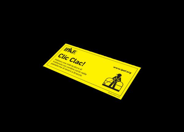 Sticker Click-Clack Sticker -  Italienisch - Click Clack!
